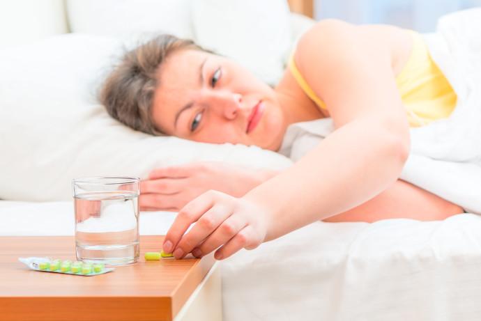אישה חולה (אילוסטרציה)