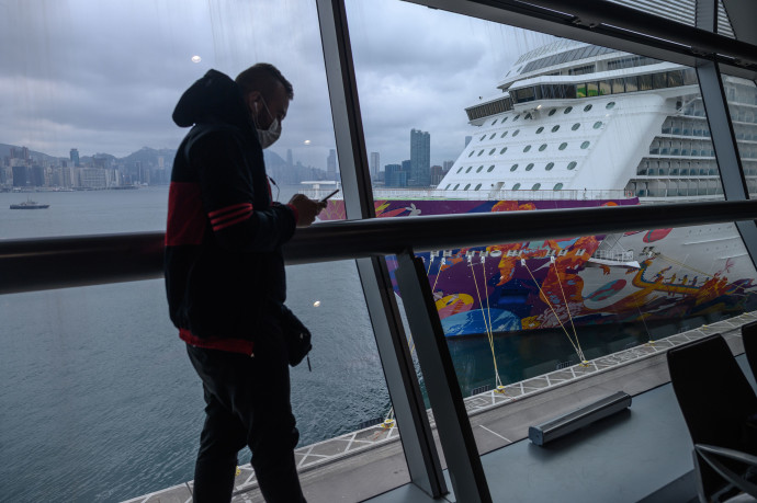 ספינת התענוגות בהונג קונג שהושמה בהסגר
