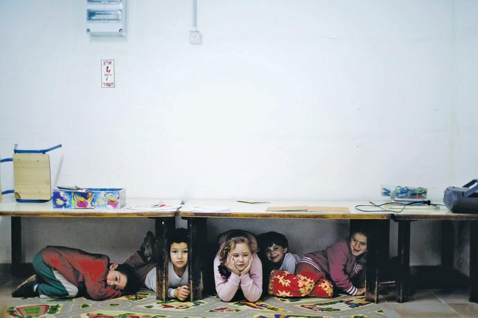 ילדים במקלט