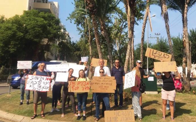 הפגנת תושבים בהדר יוסף בתל אביב