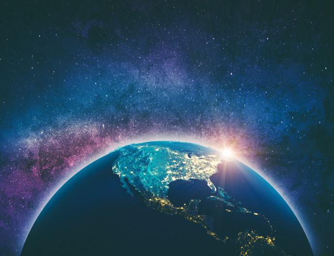 כדור הארץ, חלל