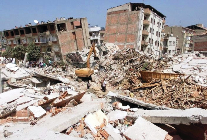 רעידת אדמה - אילוסטרציה