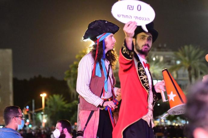 קורונה: מחאת האמנים בכיכר רבין בתל אביב