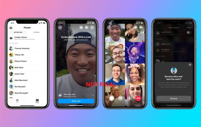 אפליקציית Messenger Rooms של פייסבוק