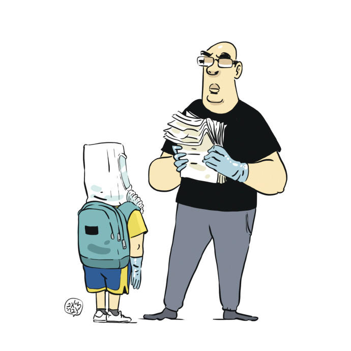 רון קופמן מנהל מו״מ עם הילד על חזרה לבית הספר