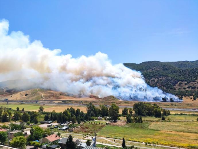 השריפה באזור קרית חרושת