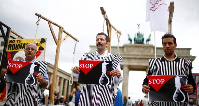 מחאת איראניים נגד ההוצאות להורג במדינתם