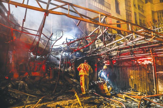 זירת פיצוץ בבית חולים בטהרן