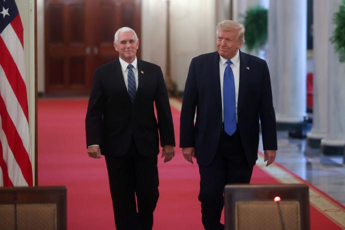 """נשיא ארה""""ב דונלד טראמפ וסגן נשיא ארה""""ב מייק פנס"""