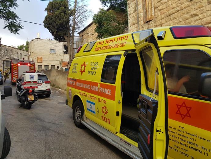 זירת השריפה בירושלים