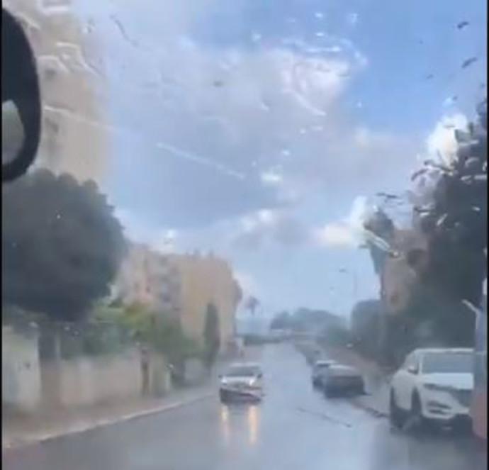 גשם בחיפה באוגוסט