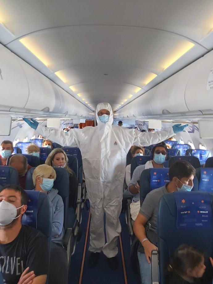 הדייל מוני שפיר בטיסה הראשונה
