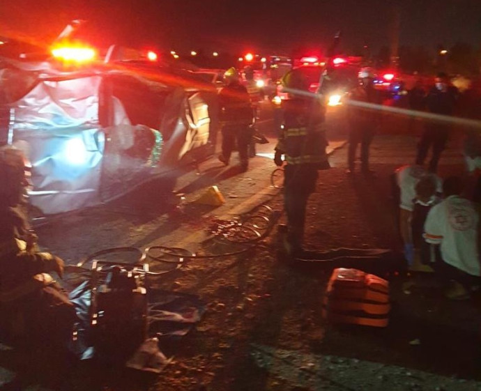 תיעוד מזירת התאונה בבאר שבע