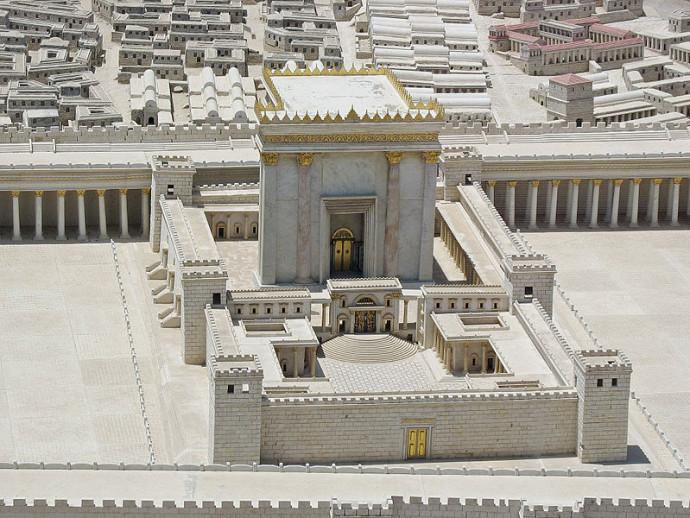 דגם של בית המקדש השני במוזיאון ישראל