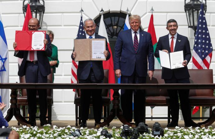 טקס חתימת הסכם השלום בוושינגטון
