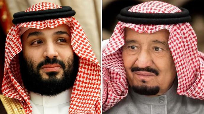 המלך סלמאן ובנו מוחמד בן סלמאן