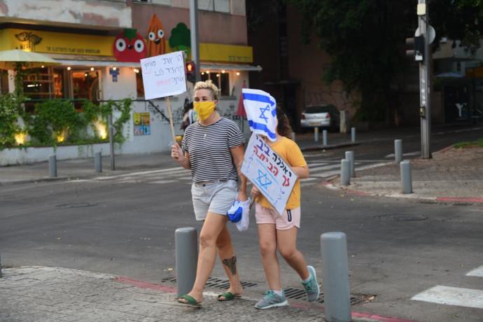 """ההפגנות ברח' בלפור בת""""א"""