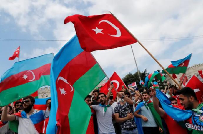 הפגנה של אזרחים מאזרבייג'ן בטורקיה