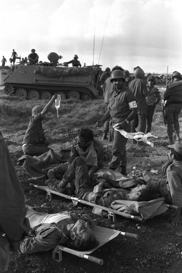 פינוי פצועים במלחמת יום כיפור