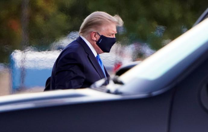 הנשיא טראמפ מגיע לבית החולים