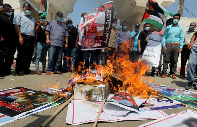 מחאה בעולם הערבי נגד הסכמי השלום