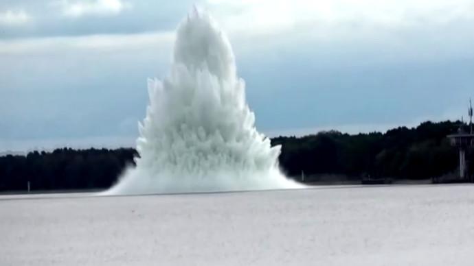הפצצה באגם בפולין