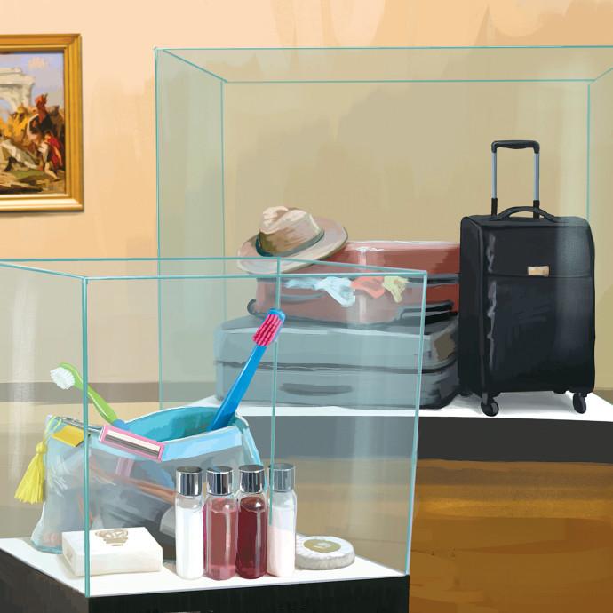 פעם אנשים היו שמים בתוך המזוודה בגדים ונוסעים לחו״ל