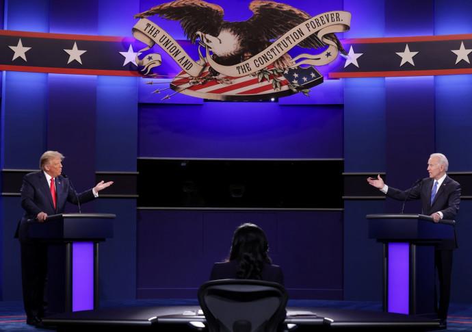דונלד טראמפ וג'ו ביידן בעימות השני בנאשוויל