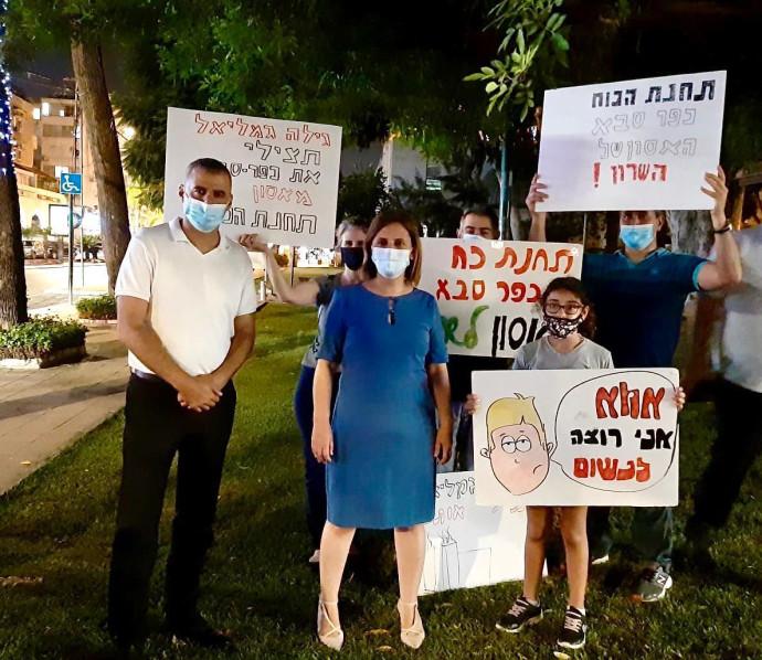 ההפגנות עזרו. מפגינים נגד הקמת תחנת הכוח הגדולה בשרון