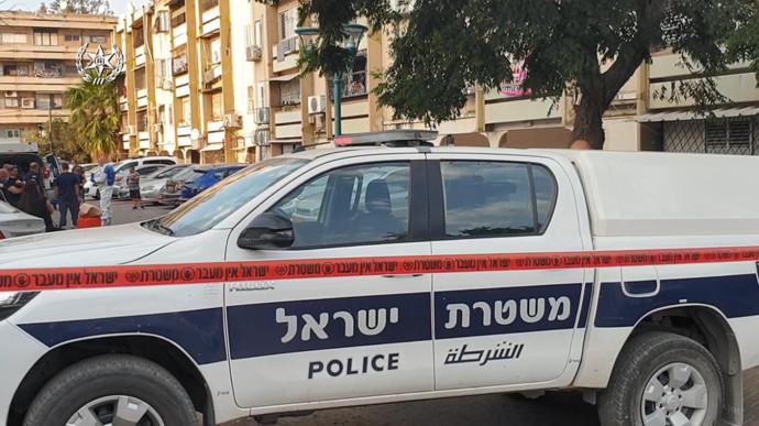 ניידת משטרה בזירת הרצח