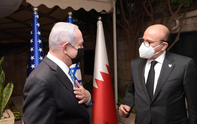 נתניהו ושר החוץ הבחרייני א-זיאני