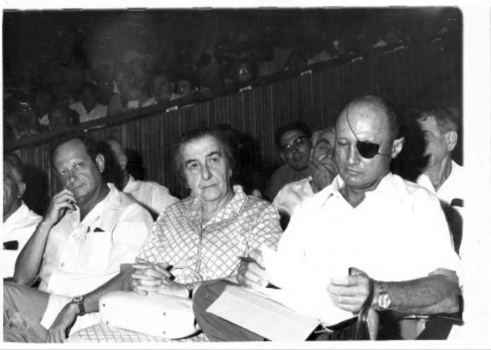 משה דיין, גולדה מאיר, יגאל אלון