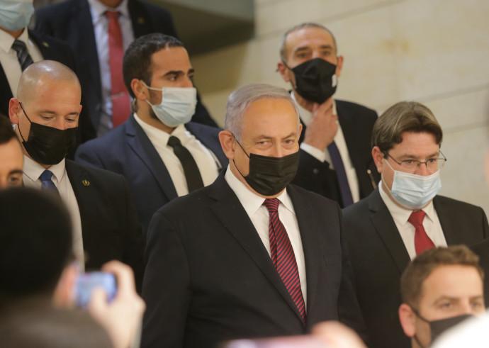 ראש הממשלה נתניהו לאחר ההצבעה על פיזור הכנסת