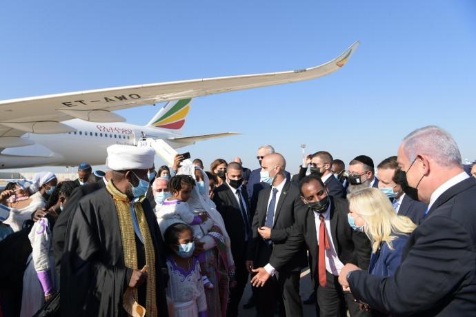 קבלת הפנים לעולים מאתיופיה