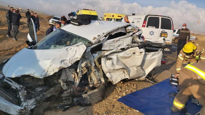תאונת הדרכים סמוך לדימונה