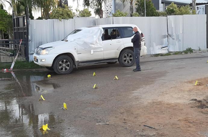 הרכב בו נורה למוות תושב לוד