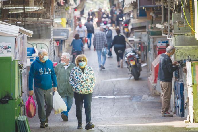 שוק הכרמל בסגר בזמן הקורונה