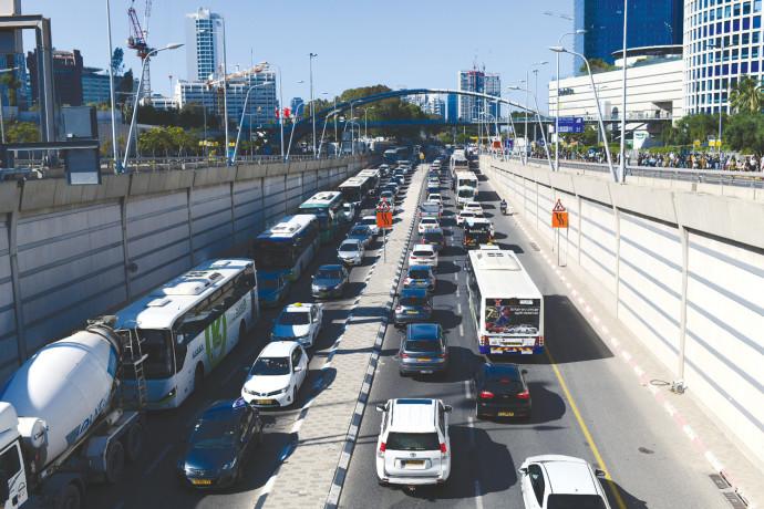 פקק תנועה בתל אביב