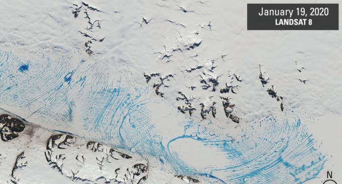 מדפי קרח באנטרטיקה אחרי 2020