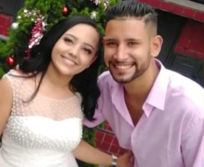 רפאלה ומריו פרנסיסקו ביום החתונה