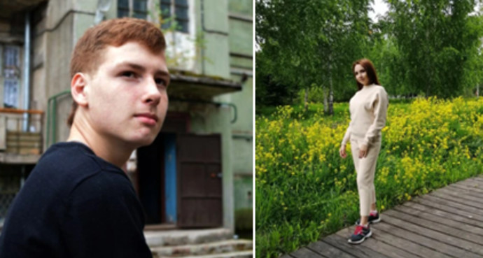 מימין, הנרצחת קמיליה - משמאל, החשוד ברצח, אחמדולין