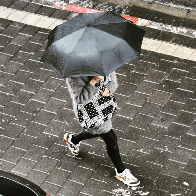 מטריה, גשם בתל אביב