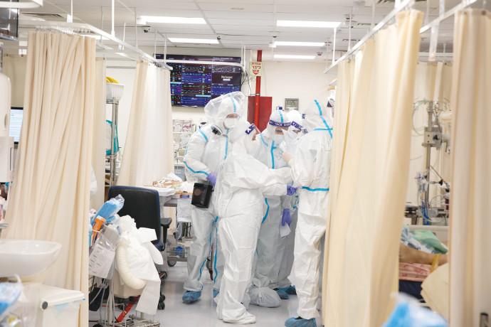 מחלקת הקורונה בבית החולים שערי צדק