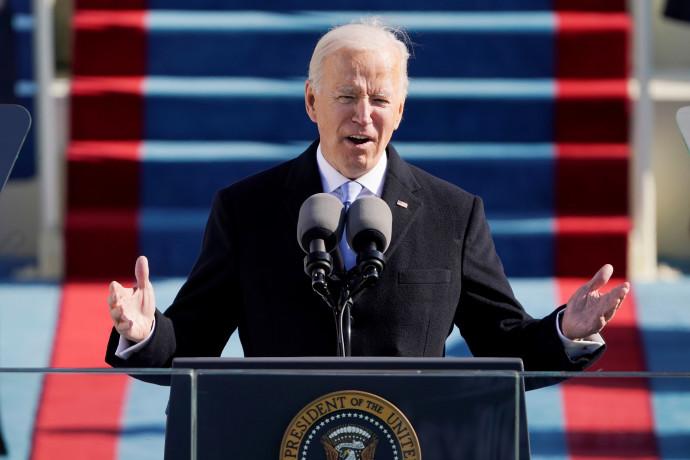 ג'ו ביידן בנאום בטקס ההשבעה