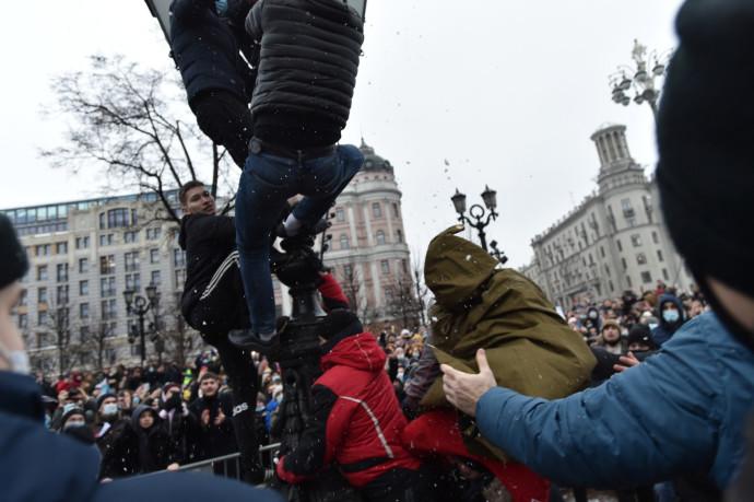 מפגינים בעד אלכסיי נבלני במוסקבה