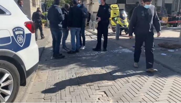 זירת ניסיון חיסול בתל אביב
