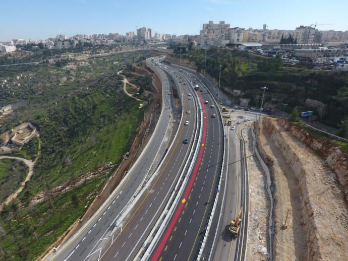 נתיבי הנסיעה החדשים ביציאה מירושלים לכביש 1
