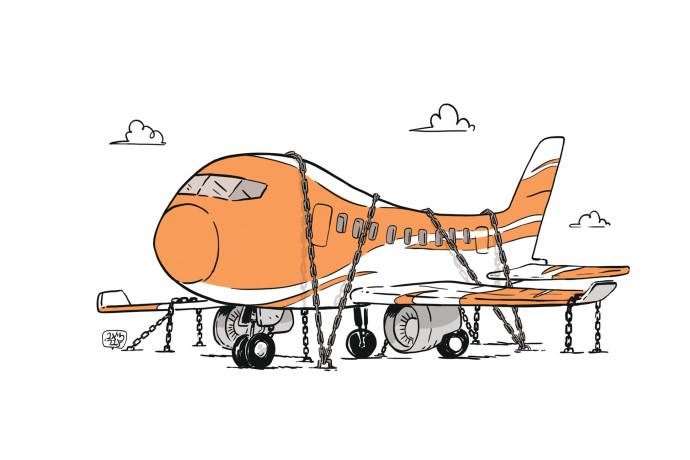 מטוס מקורקע