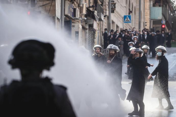עימותים בין המשטרה לחרדים
