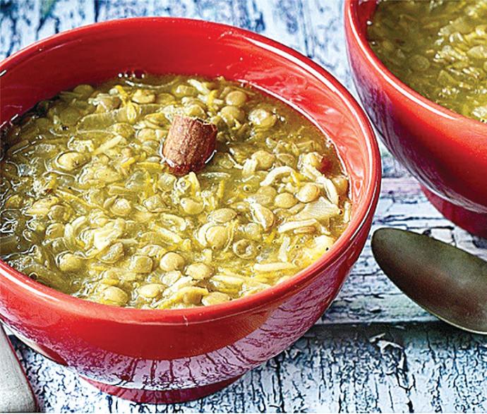 """מרק עדשים ואורז של """"תנובה"""""""